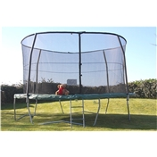12ft DELUXE TRAMPOLINE COMBO PACKAGE PLUS EXTRA Strength Enclosure + FREE LADDER & FREE 24HR Delivery