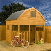 Dutch Barn Double Storey Playhouse 7ft x 7ft