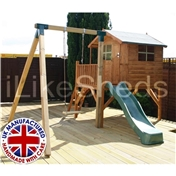 Tulip Tower Playhouse, Slide & Swing 5ft x 7ft