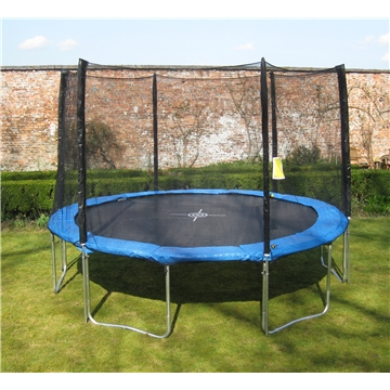 8ft PLUS TRAMPOLINE PACKAGE, SAFETY ENCLOSURE + FREE WEATHER COVER